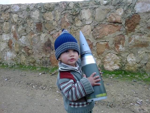 Sakr rocket fuze as seen in Syria