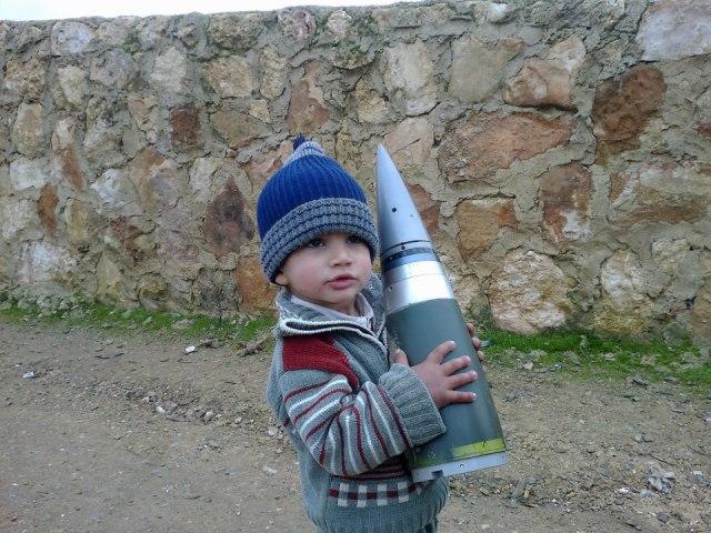 Sakr rocket fuze as seen in Syria
