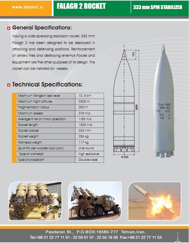 Falaq-2 (Falagh-2) [IRAN] 333mm rocket launcher