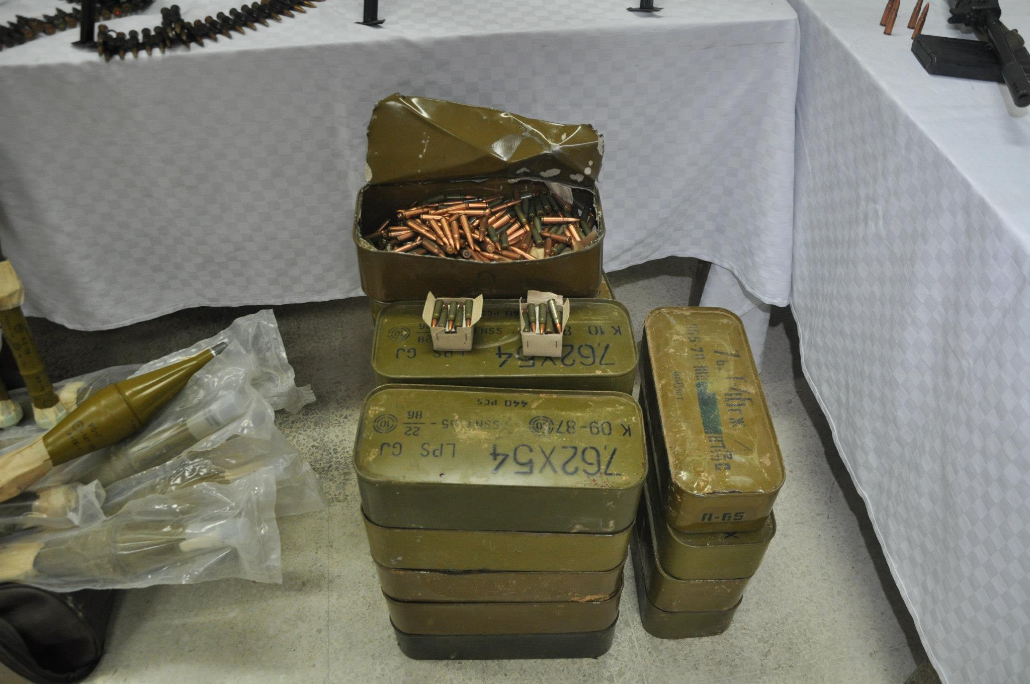 Ammo from Libya captured by Tunisian authorities