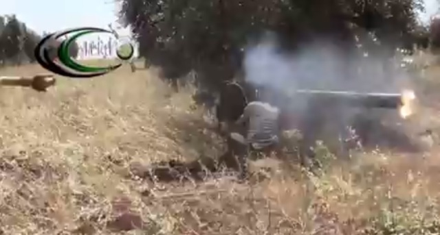 Syrian rebel firing HJ-8